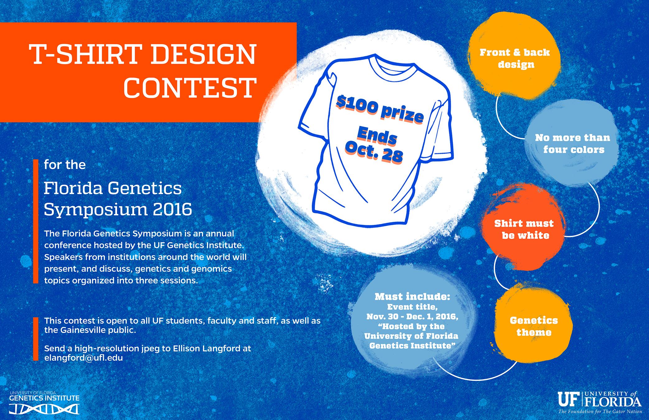 genetics institute symposium t shirt design contest. Black Bedroom Furniture Sets. Home Design Ideas